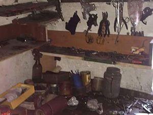 PKK'nin Yüksekova'daki silah bakım atölyesi