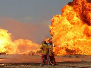Kerkük'te saldırı sonrası çıkan yangın söndürülemiyor