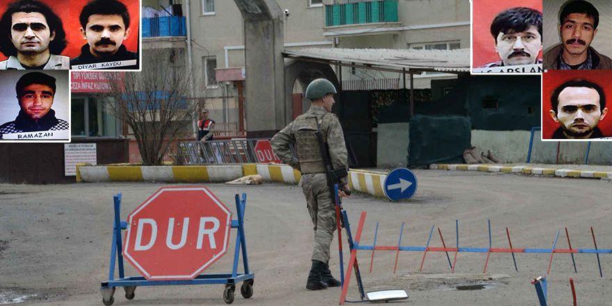 Diyarbakır'daki cezaevinden firar eden 6 PKK'linin görüntüleri