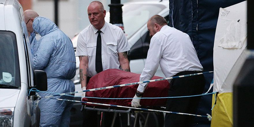 Londra'da bıçaklı saldırının görüntüleri