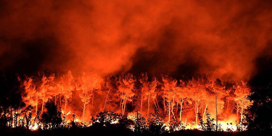 Fransa Marsilya'daki orman yangınından görüntüler