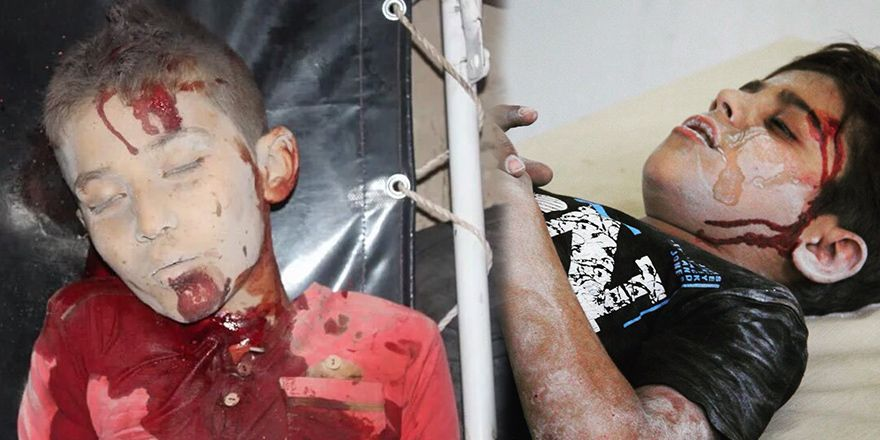 Suriye'de çocuk katliamının görüntüleri