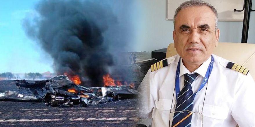 Tekirdağ Çorlu'da ölen pilot Yusuf Akşahin'in görüntüsü