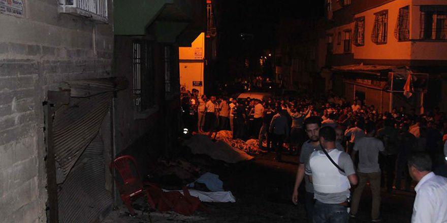 Gaziantep düğün salonu patlamasının görüntüleri