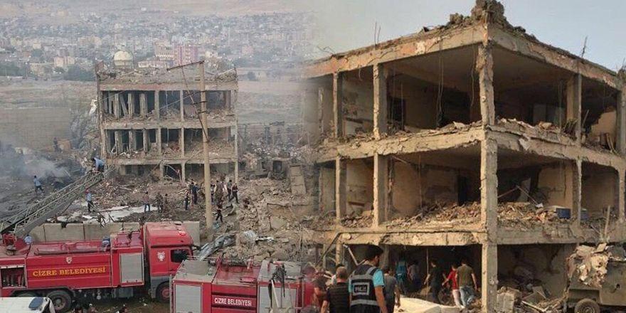 Şırnak Cizre'de Çevik Kuvvet binasındaki patlamanın görüntlüleri