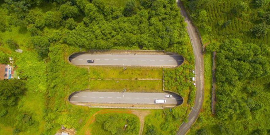Doğa ile bütünleşen tünellerin görüntüleri