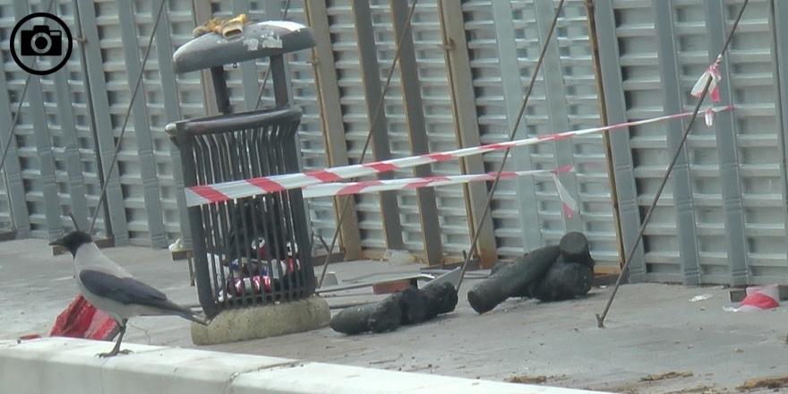 Kadıköy'de bulunan top mermilerinin görüntüleri 1