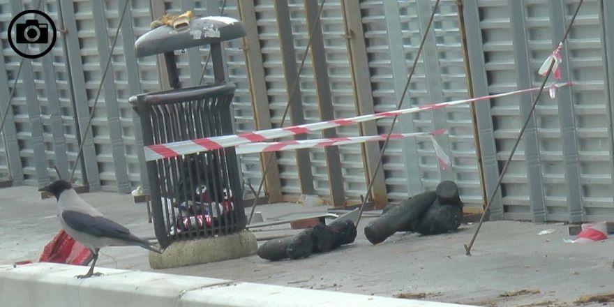 Kadıköy'de bulunan top mermilerinin görüntüleri