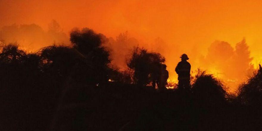 İsrail'de yangın görüntüleri: Yahudiler tedirgin