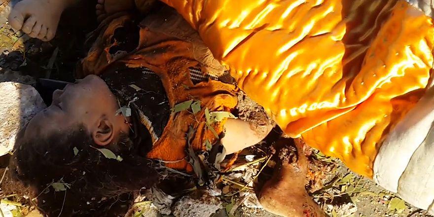 Irak'ta El Kaim'deki sivil katliamının görüntüleri