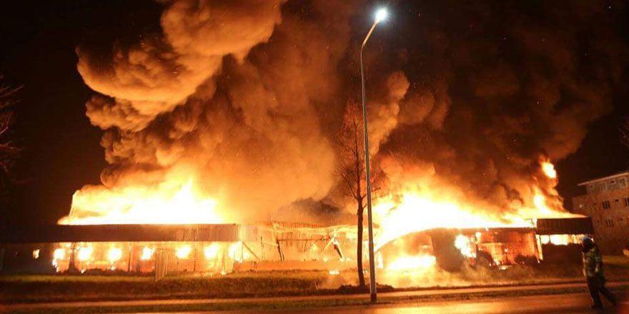 Hollanda'da yangın: Cami kundaklandı