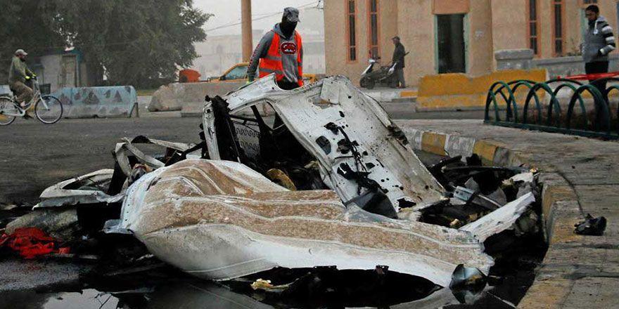 Bağdat'ta bombalı saldırı görüntüleri