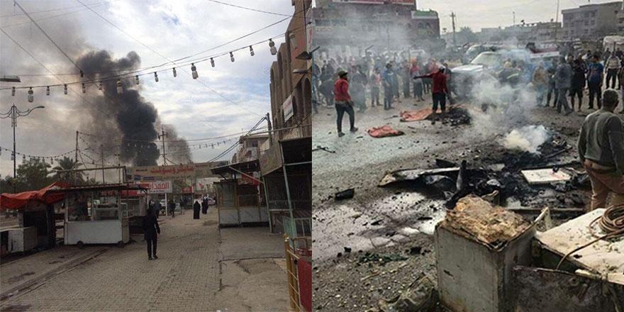 Bağdat Sadr City'de bombalı saldırı görüntüleri 1