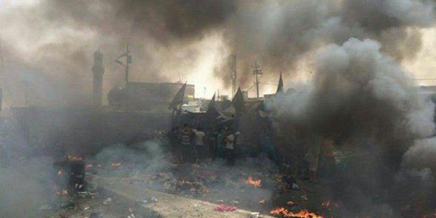 Bağdat Sadr City'de bombalı saldırı görüntüleri