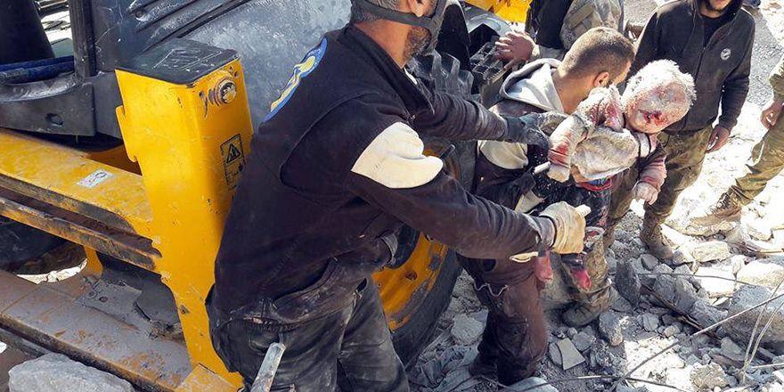 Rusya'nın İdlib katliamından görüntüler