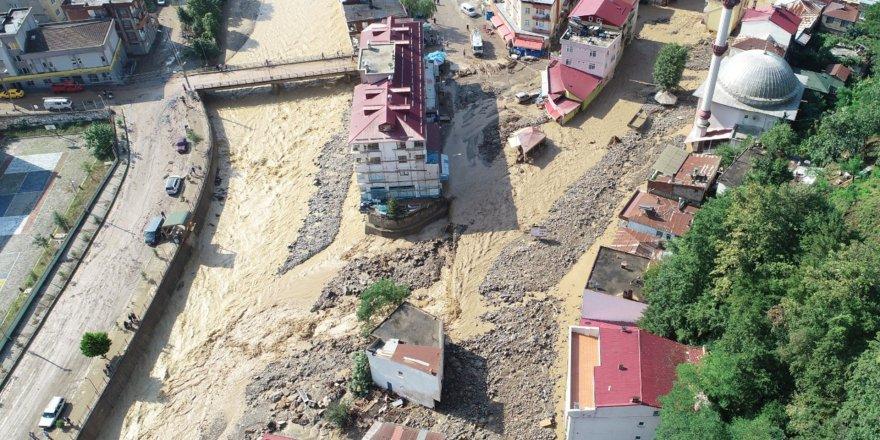 Giresun'daki felaketin boyutu gözler önüne serildi