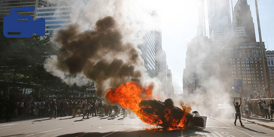 ABD'de olaylar çığrından çıktı! Polis kontrolü kaybetti