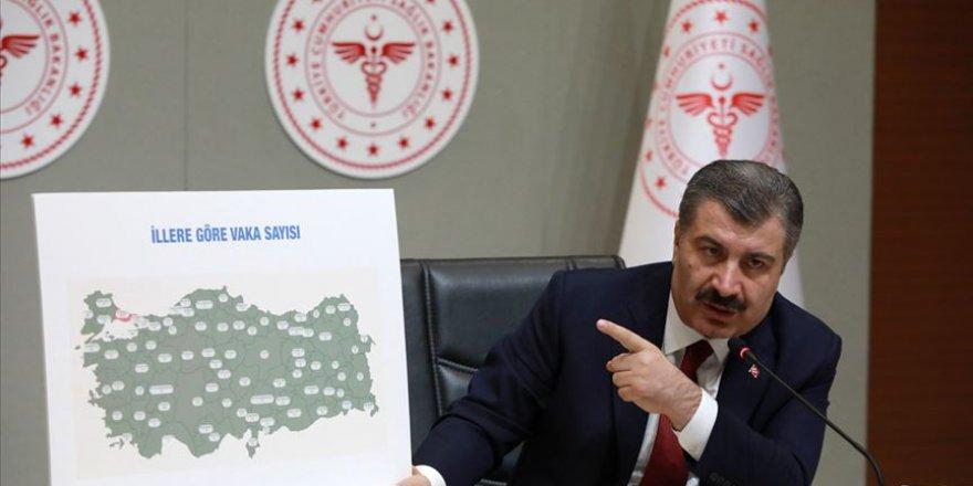 Türkiye'de bugünkü vaka sayısı bin 185 oldu