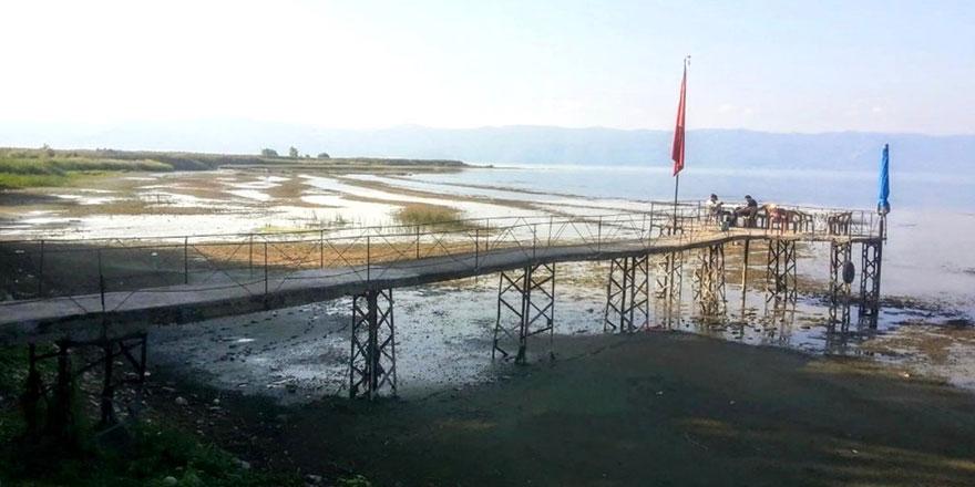 İznik Gölü'nde ürkütücü görüntü
