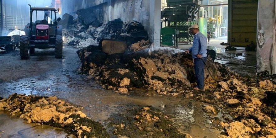 Diyarbakır'da yağ fabrikasında yangın çıktı