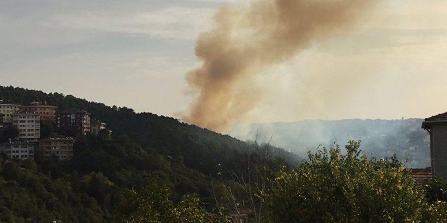 Anadolu Hisarında orman yangını