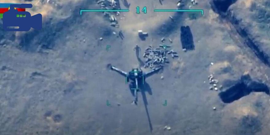 Azerbaycan İHA'ları Ermeni topçu bataryalarını ve askeri konvoyu vurdu