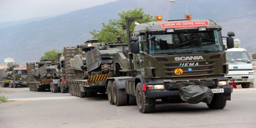 Türkiye 'çatışmasızlık bölgesine' askeri sevkiyat yaptı