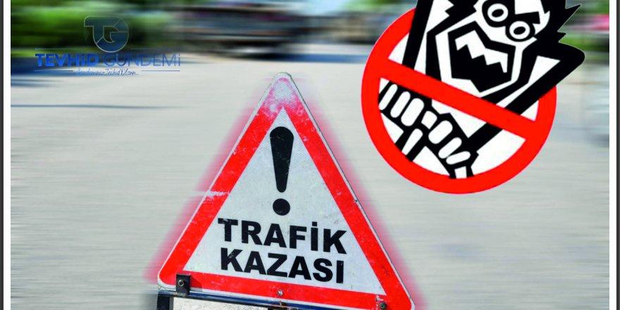 Ümraniye'de kaza: İki aracınarasında kaldı
