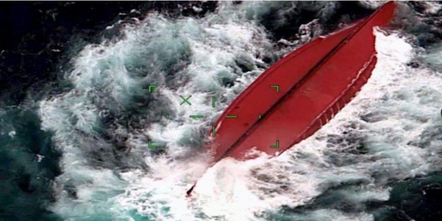 Çin Gemisi Ishigaki Adası'nın Kuzeyinde alabora oldu