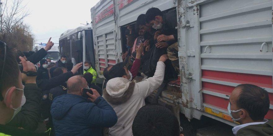 Trafik kazası insan kaçakçılığını ortaya çıkardı