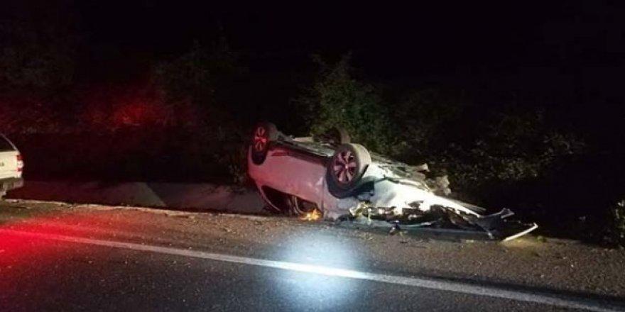 Kontrolü kaybeden otomobil takla attı: 1ölü, 1 yaralı