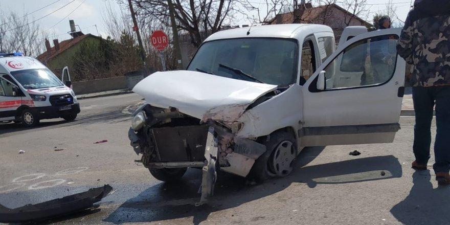 Konya'nın Meram ilçesinde trafik kazası