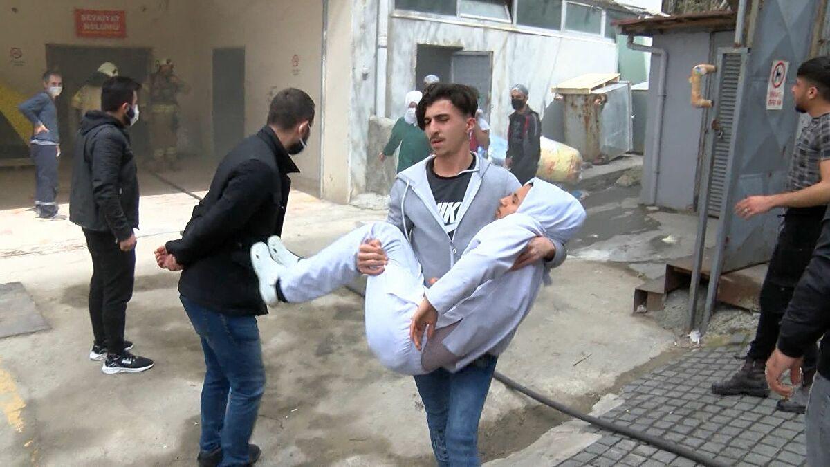 Bağcılar'da tekstil aksesuarları üreten iş yerinde patlama