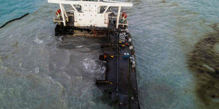 Sarı Deniz'de 400 ton civarında petrol sızıntısı