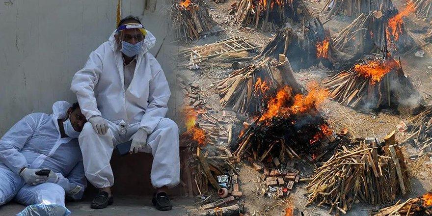 Hindistan'da günlük vaka ve can kaybı rekor seviyede
