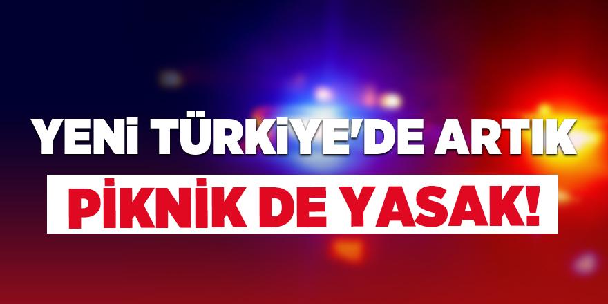 Yeni Türkiye'de artık piknik yapmak da yasak!