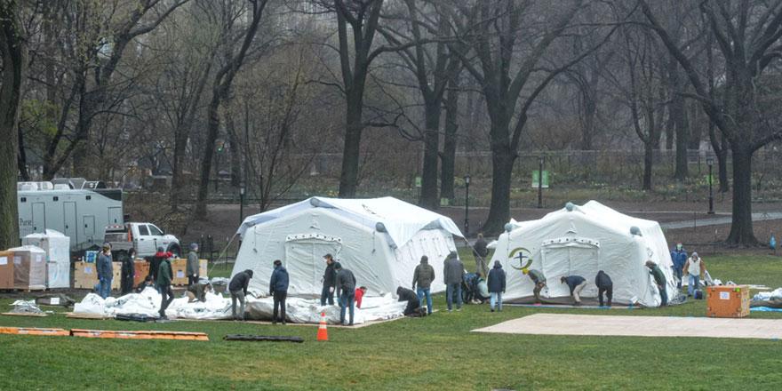 ABD, Central Park'a mobil hastane kurdu