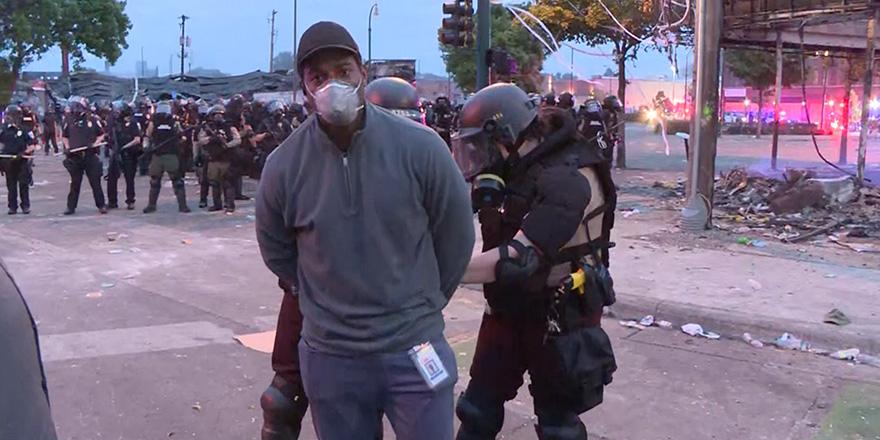 ABD'deki protestoları takip eden muhabirler gözaltına alındı