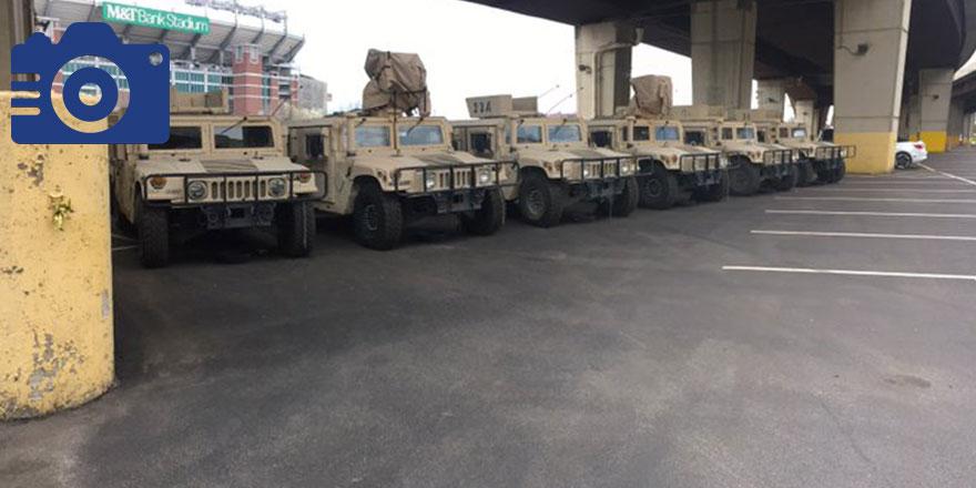 ABD'nin Maryland eyaletinde zırhlı araçlar sokaklara indi