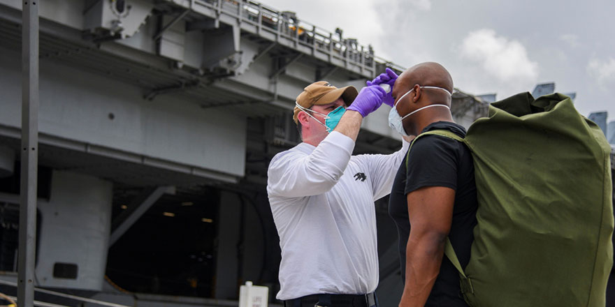 ABD'nin Roosevelt uçak gemisinde iyileşen askerler yeniden enfekte oldu