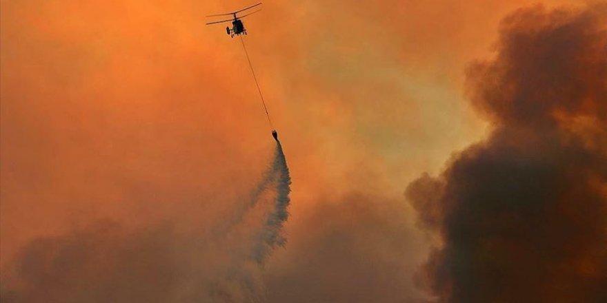 Adana'daki orman yangınına müdahale ediliyor