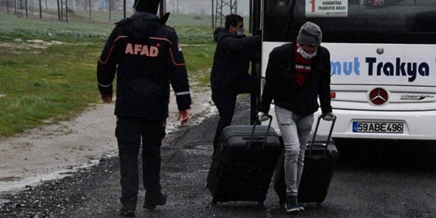 AFAD: Karantinadaki 74 bin 898 kişiden 65 bin 243'ü tahliye edildi