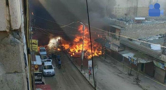 Afrin'de siviller bombalı araçla hedef alındı