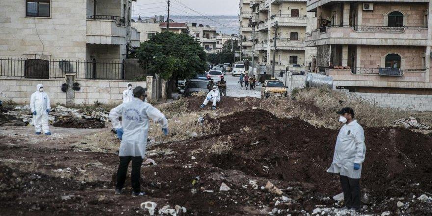 Afrin'deki toplu mezardan 61 ceset çıkarıldı!