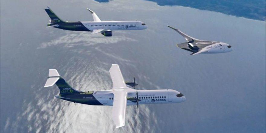 Airbus, hidrojenle çalışan sıfır emisyonlu yolcu uçağının 2035'te havada olmasını hedefliyor