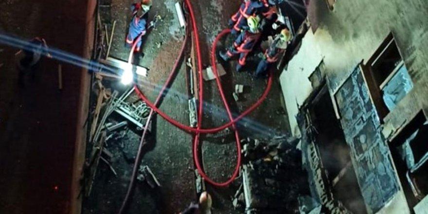 Ankara Mamak'da doğalgaz patlaması