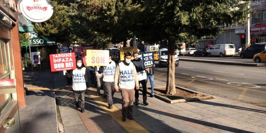 Ankara'da Halis Hoca için yürümek isteyenler darp edilerek gözaltına alındılar