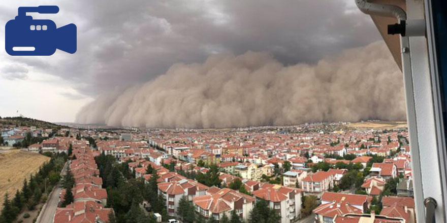 Ankara'da kum fırtınası: Polatlı toz bulutuyla kaplandı