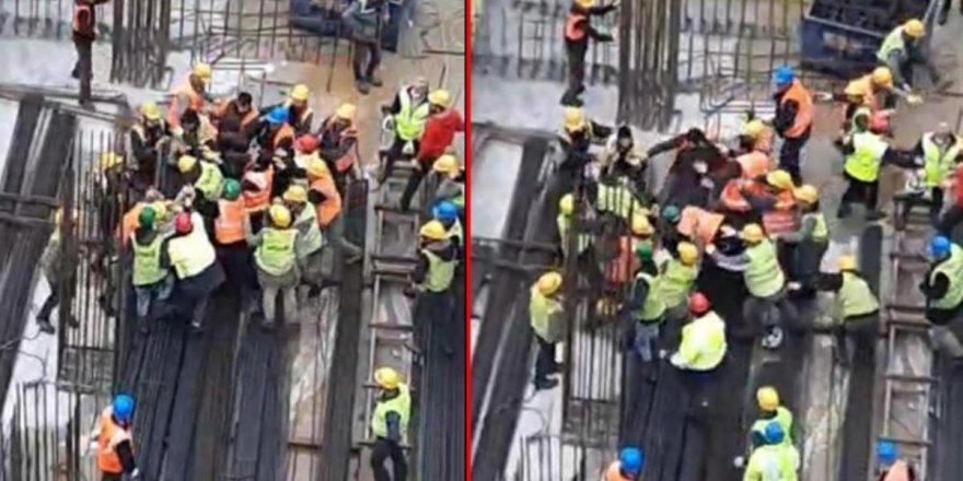 Ataşehir'de inşaat işçileri arasındakavga!