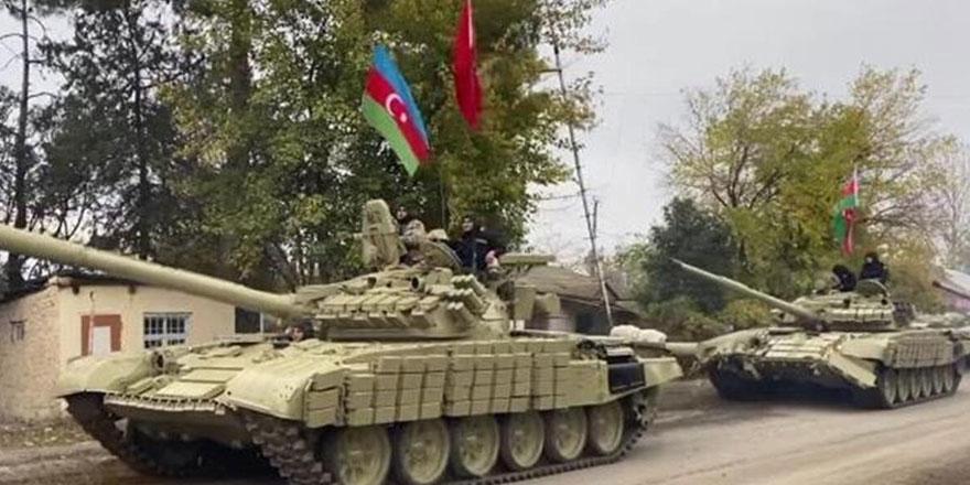 Azerbaycan ordu birlikleri Ağdam'a giriş yaptı